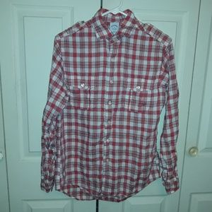 Brooks Brothers Red Plaid Button Up